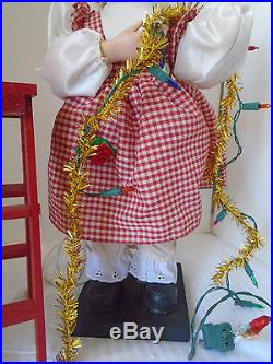 Telco Vintage Motion Christmas Doll Tree Trimmer