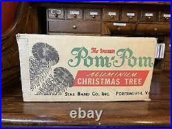 The Sparkler Aluminum Christmas Tree Star Band Co, Vintage POM POM 4 ft. Tall