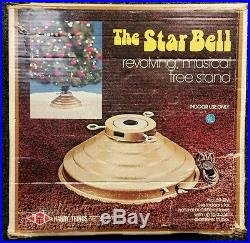 The Star Bell Revolving Musical Christmas Tree Stand With Original Box Vintage