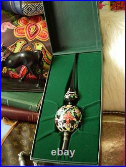 Ultra RARE Vintage GUCCI Christmas Holiday Hand painted Tree Topper Ornament