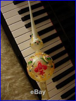 Ultra RARE Vintage GUCCI Christmas Tree Holiday Hand painted Topper Ornament GG