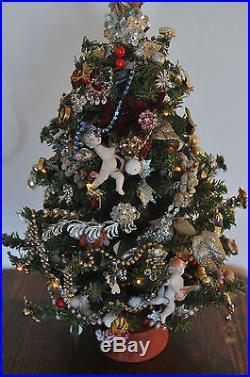 unique vintage christmas tree lights jewelry cherub decorations ooak dazzling - Vintage Christmas Tree Lights