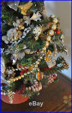 unique vintage christmas tree lights jewelry cherub decorations ooak dazzling - Unique Christmas Tree Lights