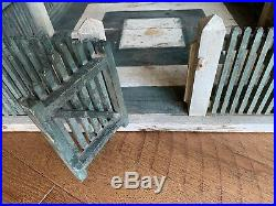 VERY OLD Large Victorian Antique Vintage USA Made 1800's Christmas Tree Fence