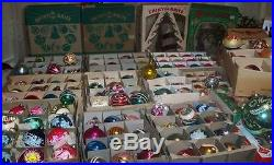 VINTAGE 188Shiny BritePolandGermanyxmas tree mercury glass Ornament LOT