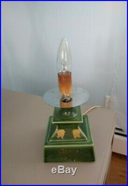 VINTAGE 19 Inch Tall Lighted Ceramic Christmas Tree with RARE Pedestal Base
