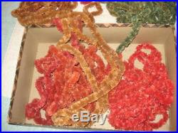 VINTAGE 1930s CHRISTMAS TREE CHENILLE GARLAND LOT