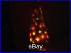 VINTAGE 1950s CHENILLE LIGHTED ILLUMINATED TWINKLE CHRISTMAS TREE
