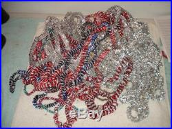 VINTAGE 1950s CHRISTMAS TREE GARLAND FOIL TINSEL LOT