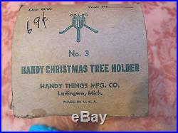 VINTAGE 1950s SILVER PINE 6-Ft ALUMINUM CHRISTMAS XMAS TREE In BOX withSTAND
