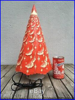 VINTAGE 1951 RED CHRISTMAS TREE ECONOLITE ROTO VUE MOTION LAMP With BOX & MANUAL