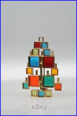 VINTAGE 1960 Mid Century Modern RARE Laguna Modernist Christmas Tree Pin ESTATE