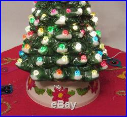 Vintage 1960s Mid Century Crackle Marble Ceramic Light Up
