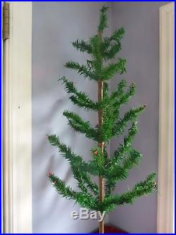 VINTAGE 37 German Goose Feather Christmas Tree Made in US zone Germany