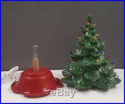 VINTAGE Atlantic Style Ceramic Christmas Tree Medium ceramic tree lights up