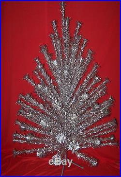 Vintage Christmas 6 Ft. Evergleam Deluxe 94 Branches W Pompom Aluminum Tree Ob