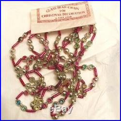 VINTAGE CHRISTMAS MERCURY GLASS FEATHER TREE GARLAND Small Indents 9FT