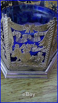 Vintage Christmas Tree Celebration Stencil Silver Plated Tea Candle 50+