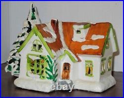 VINTAGE Department 56 Original Snow Village Cape Cod Christmas Tree House #50138