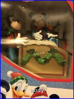 VINTAGE-Disney Train Around The Tree Train Set Mickey Goofy Christmas-opened Box