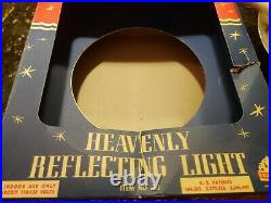 VINTAGE HEAVENLY REFLECTING LIGHT CHRISTMAS TREE TOP IN BOX With SPINNER BRADFORD