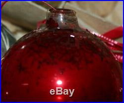VINTAGE LOT Shiny Brite Mercury Christmas Ornaments Indents Tree Topper Glass