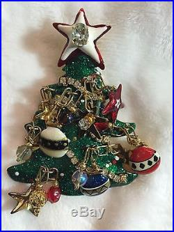 VINTAGE LUNCH AT THE RITZ Christmas Tree Pin Brooch