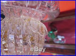 VINTAGE MURANO Italy Glass Cone Christmas Tree 9 1/2 withOriginal Sticker