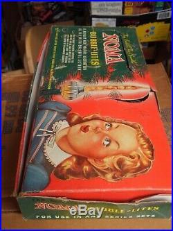 VINTAGE NOMA BUBBLE LITE NO. 840 CHRISTMAS TREE LIGHTS ORIG BOX 1940'S All Work