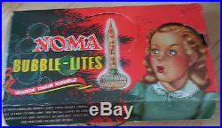 Vintage Noma Paramount Christmas Tree Flying Saucer Bubble Lights Bakelite Slugs