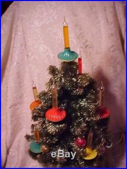 Vintage Old Antique Christmas Noma Bubble Light Tree Visca Rocket Saucer Lites