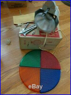 VINTAGE ROTATING COLOR WHEEL FOR SILVER ALUMINUM CHRISTMAS TREE Penetray