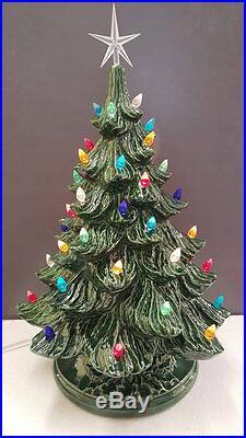 VINTAGE Style Ceramic Christmas Tree Ceramic Christmas Tree 17 tall Nowell