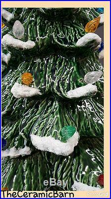 VINTAGE Style Ceramic Christmas Tree Ceramic Christmas Tree 17 tall with SNOW