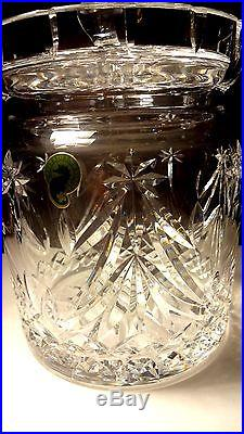 VINTAGE Waterford Crystal HAPPY HOLIDAYS Christmas Tree Biscuit Barrel 7
