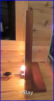 VTG 1960's Mid Century Modern Wooden Christmas Tree shaped Lamp works perfect