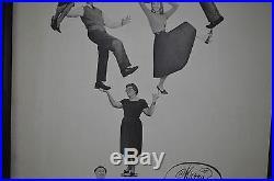 VTG 1960s Christmas Family Tree Advertisement Poster Greeting Wall Art Framed