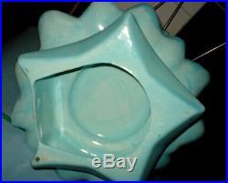 VTG 21 Holland Mold Ceramic Xmas Tree Light Blue Decorated with Nativity Diorama