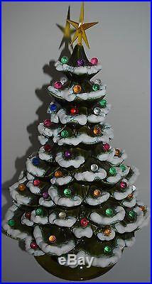 Vtg 23 2pc Arnels Lighted Musical Ceramic Christmas Tree Round Bulbs 3 Day Sale