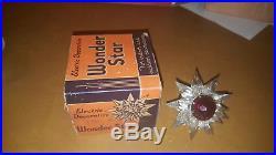 VTG'30's C9 Base Glass Matchless Wonder Star Double Ray Christmas Tree Light
