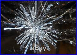 VTG 6 FT POM POM ALUMINUM CHRISTMAS TREE Complete Stand Box Sleeves