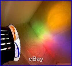 VTG 60'S SPARTUS PRISMA-LITE X-MAS Tree Color Wheel Glass Lenses Original Box