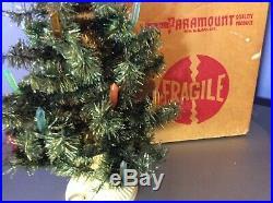 VTG Antique BUBBLE Tube LIGHT Small CHRISTMAS Tree NOMA Paramount RARE Works