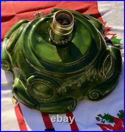 VTG Atlantic Mold Ceramic 18 Snow Flocked Musical Christmas Tree The First Noel