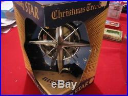 VTG Bradford Electrified Nativity Star Unbreakable Christmas Tree Topper LITE UP