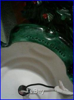 Vtg Ceramic Lighted Tabletop Christmas Tree Atlantic Mold 16