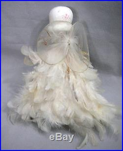 Vtg Christmas Holt Howard Feather Angel Tree Topper Ornamentporcelain Head