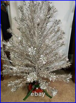 VTG COLLECTOR'S 6 FT. EVERGLEAM POM STAINLESS ALUMINUM XMAS TREE withbox