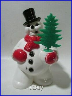 VTG Christmas FROSTY Light-up Glow ROSBRO Figure ORIGINAL TREE EXCELLENT