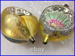 VTG Christmas Tree Glass Ornaments (39) Hand Painted Reflector Indents Poland